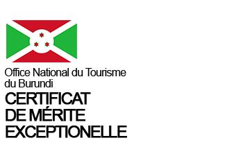 Office National du Tourisme du Burundi – Certificat de Mérite Exceptionnel