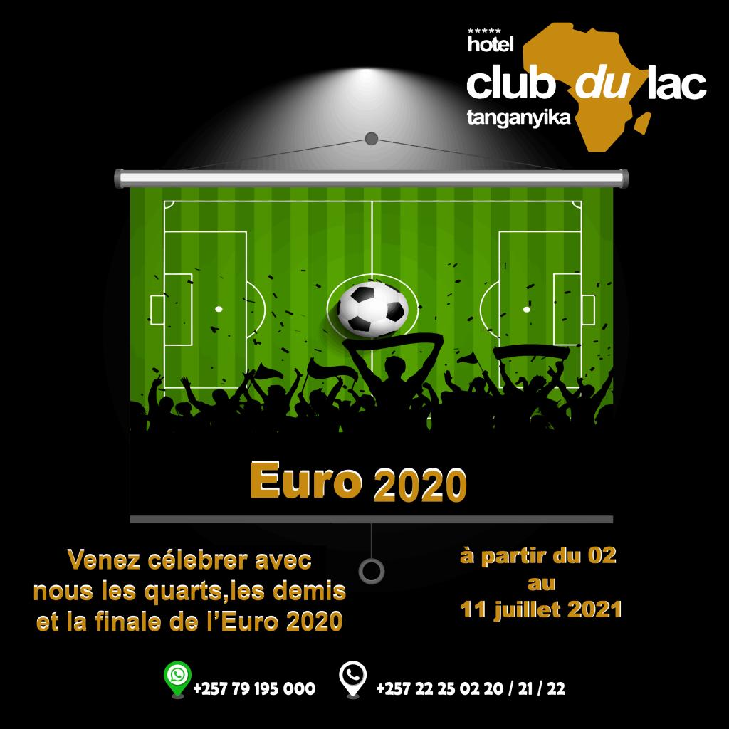 Euro 2020 en direct à l'Hôtel Club du Lac Tanganyika